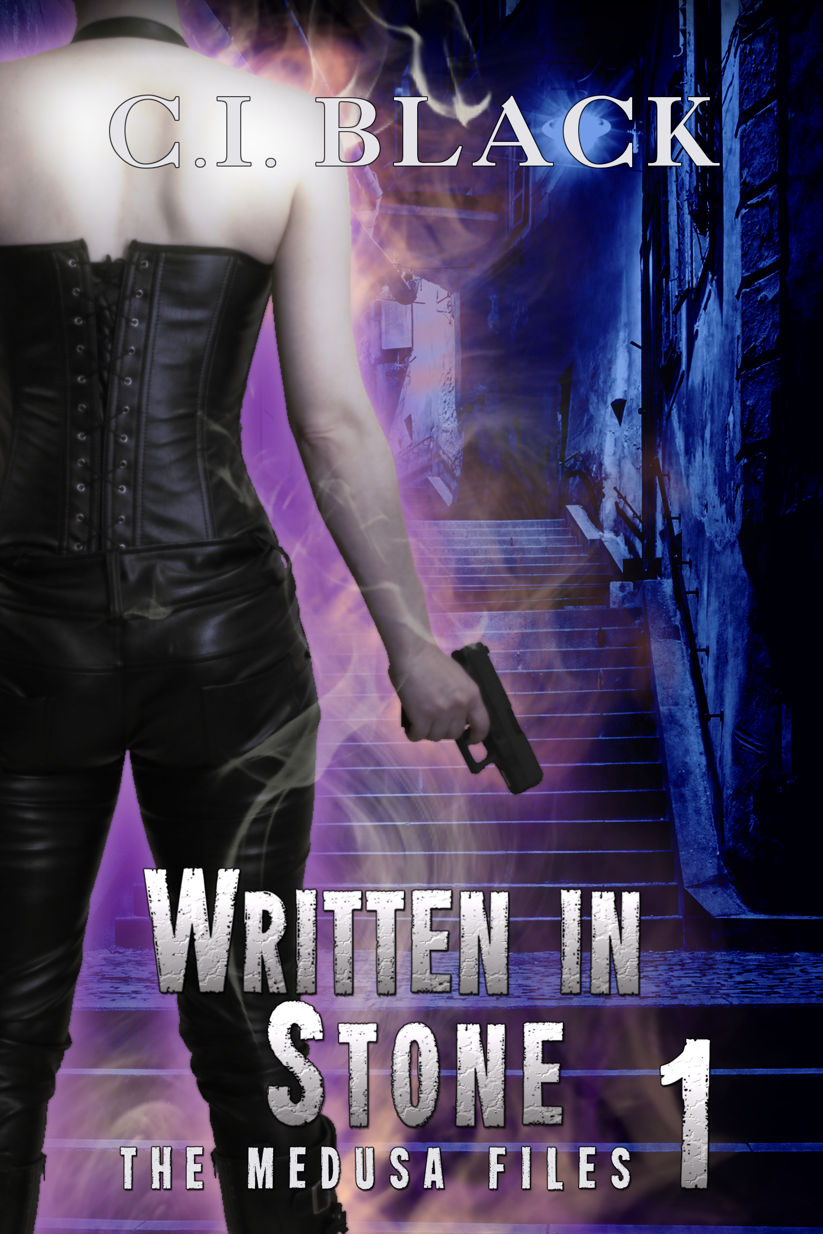 The Medusa Files, case 1: Written in Stone, an urban fantasy / paranormal romance and the first book in the Medusa Files series by C.I. Black