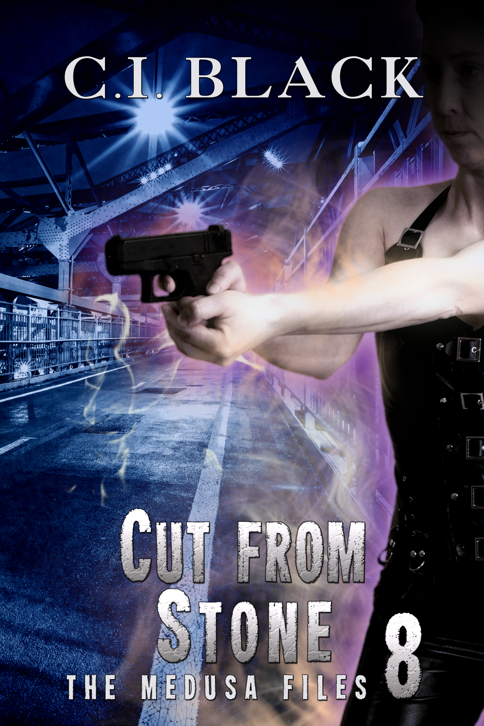 The Medusa Files, case 8: Cut From Stone, an urban fantasy / paranormal romance and the eighth book in the Medusa Files series by C.I. Black